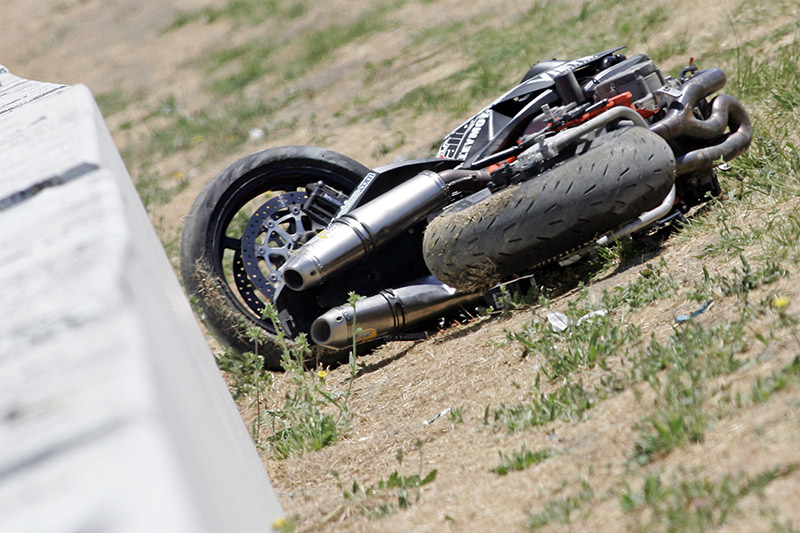 Superduke wrecked
